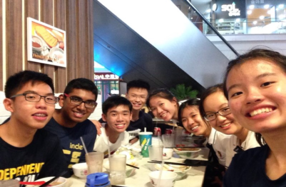Picture: Harold's 5.09 (2014) classmates/friends from his Orientation Group  who also ran for Student Council.
